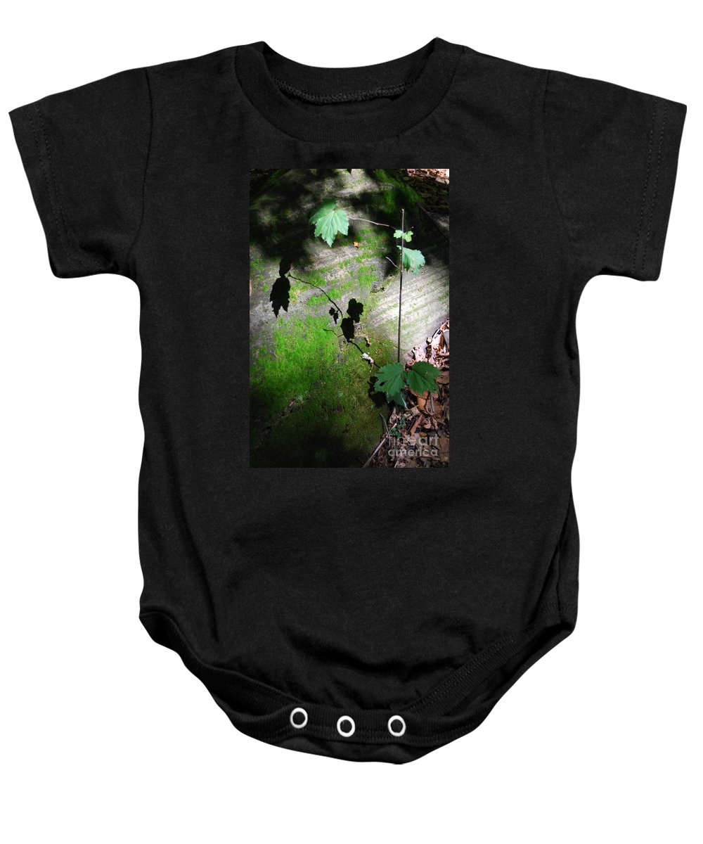 Moss Baby Onesie featuring the photograph Shadow Play by Trish Hale