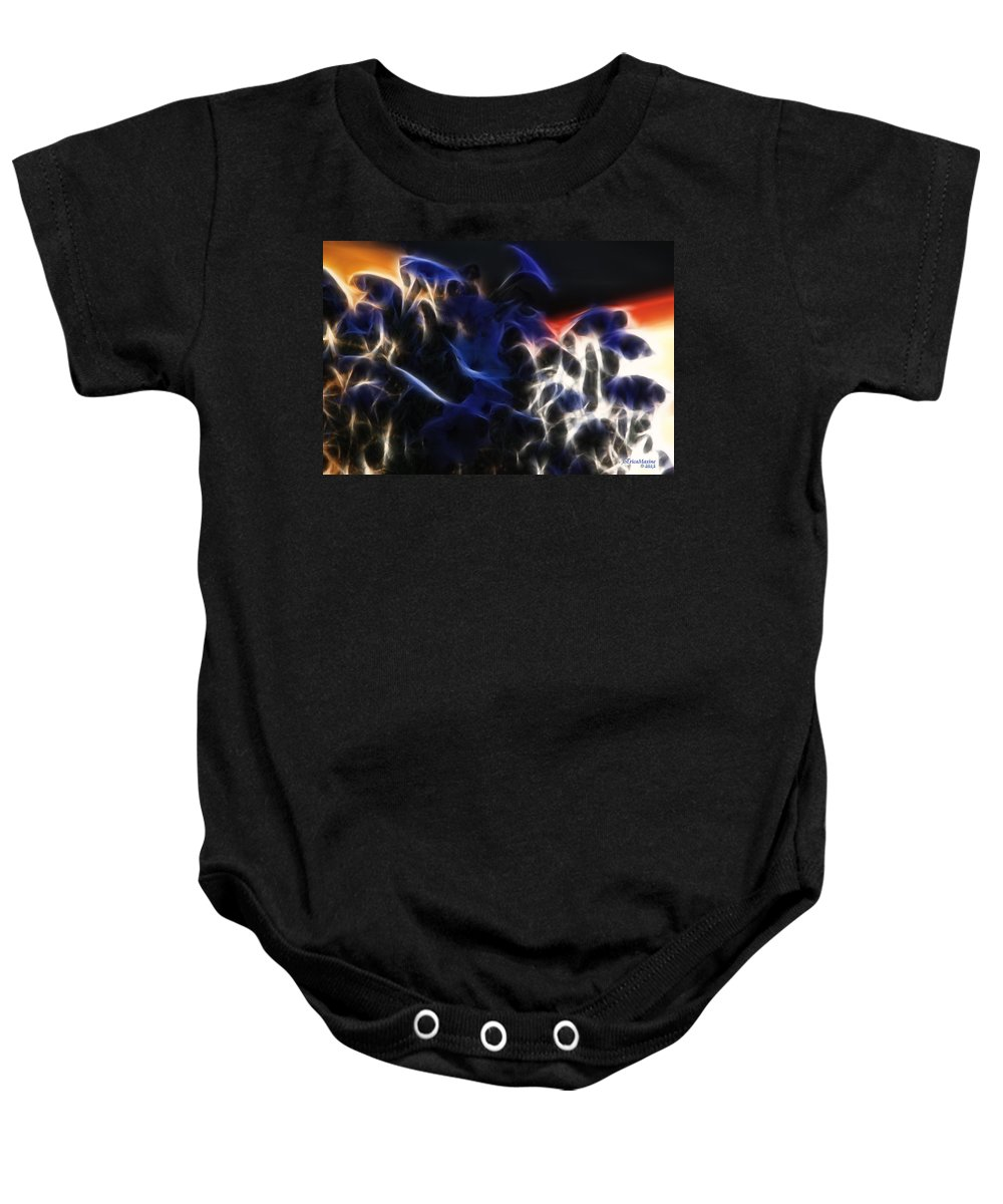 Fractals Baby Onesie featuring the photograph Shocking Petunias by Ericamaxine Price