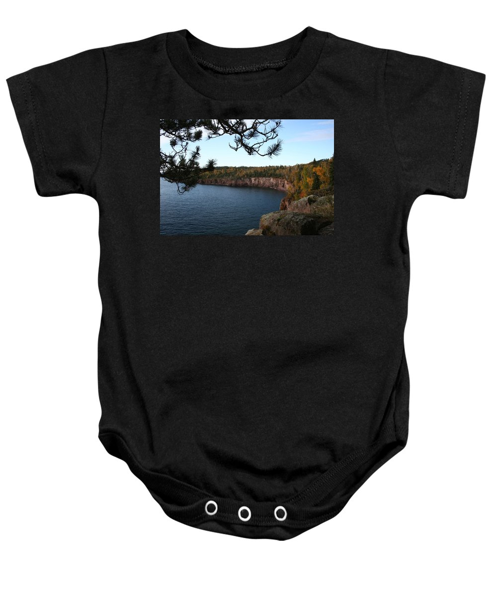 Baby Onesie featuring the photograph Shovel Point From Crystal Creek Overlook by Joi Electa