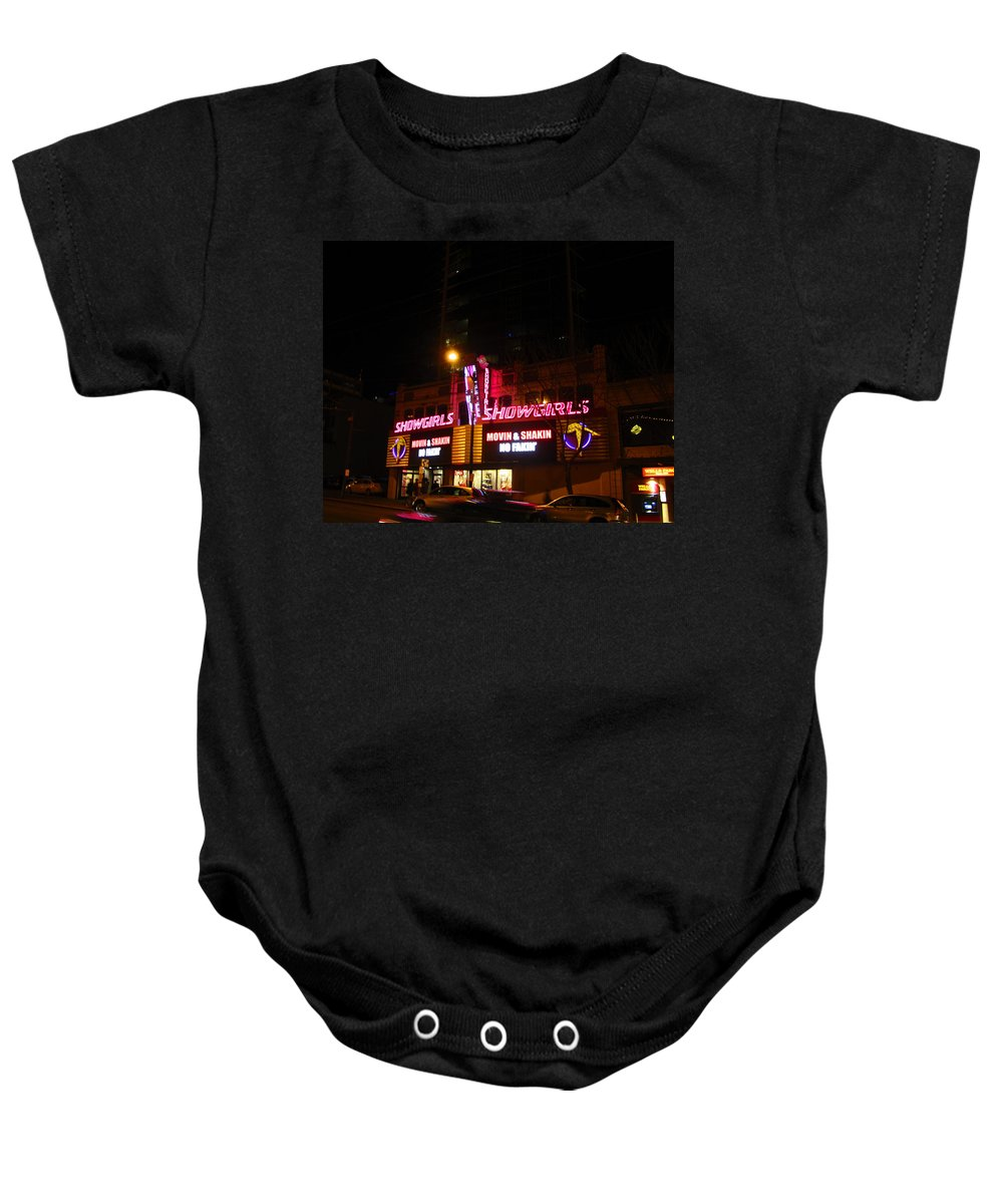 Showgirls Baby Onesie featuring the photograph Showgirls Moving And Shaking by Kym Backland