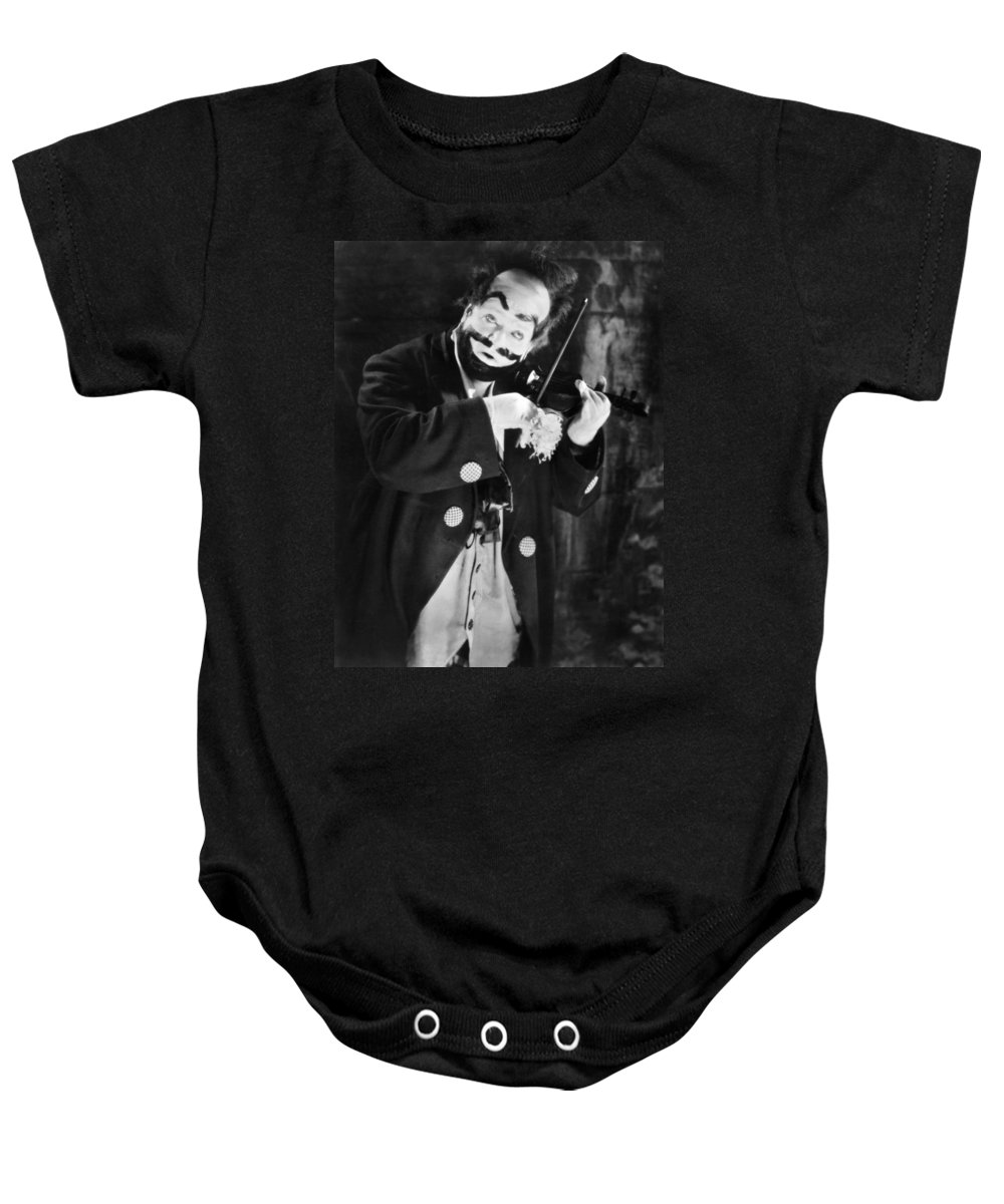 1915 Baby Onesie featuring the photograph Silent Film Still: Clown by Granger