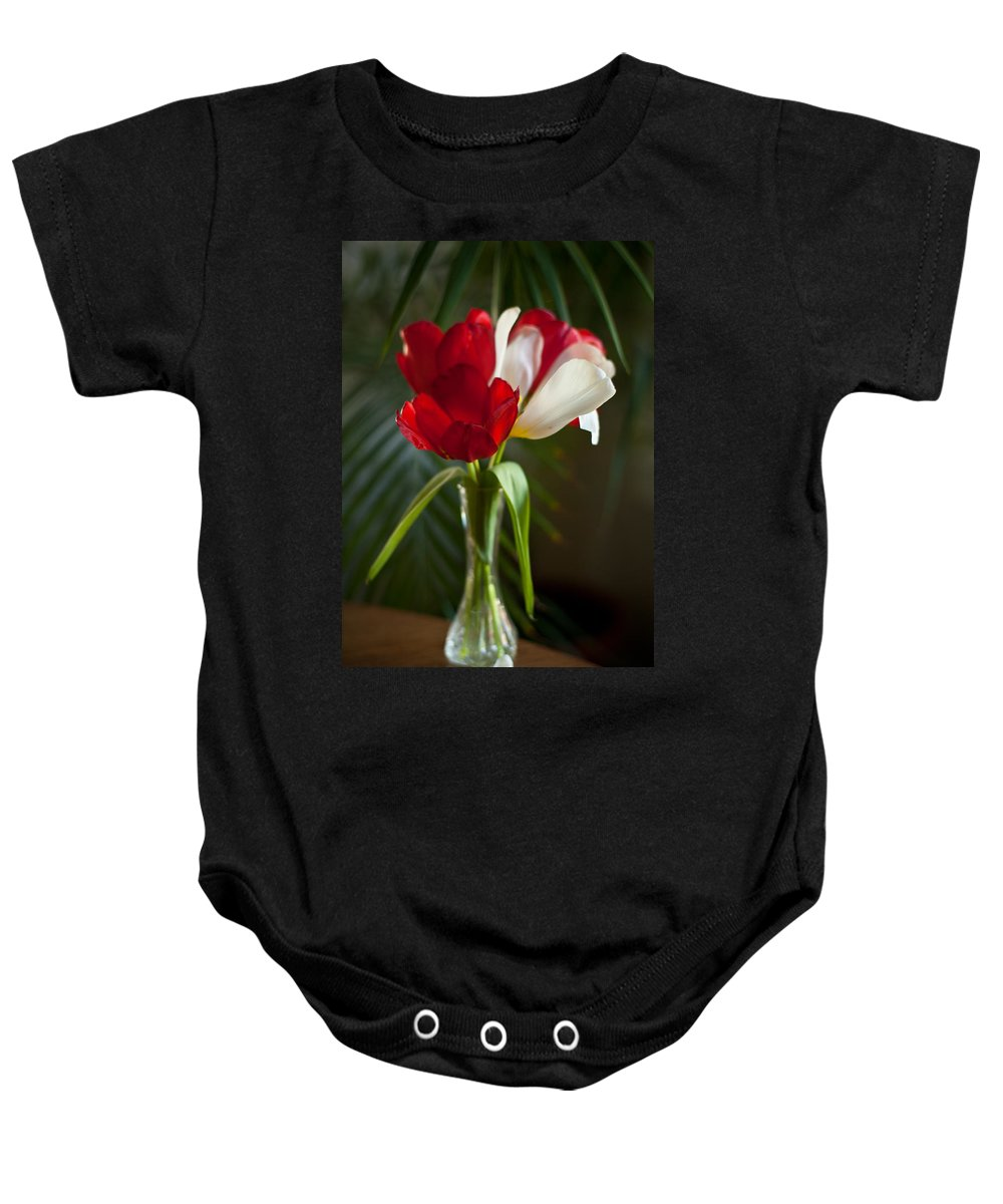 Tulip Baby Onesie featuring the photograph Simple Beauty by Mike Reid
