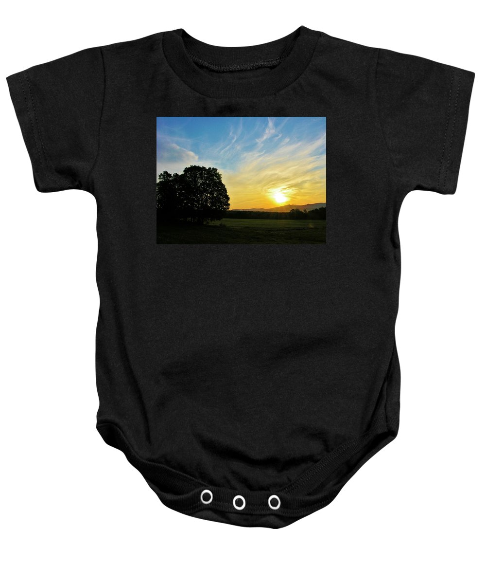 Sunrise Baby Onesie featuring the photograph Six Am by Sherman Perry