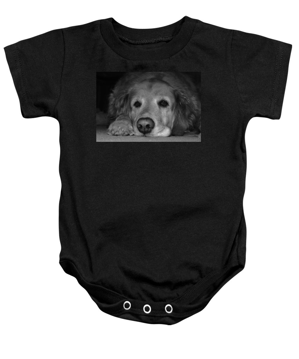 Sleep Baby Onesie featuring the photograph Sleepy by Todd Hostetter