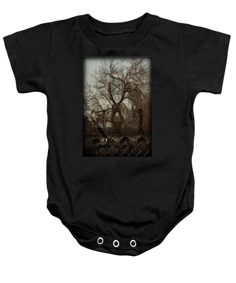 Art Baby Onesie featuring the photograph Solitude by Jay Hooker