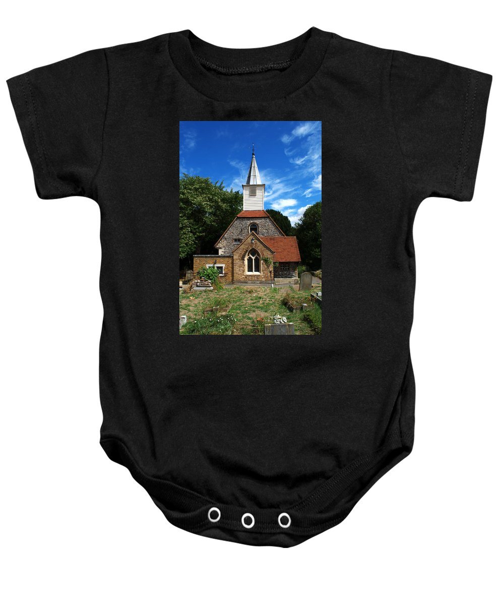 St Laurence Church Baby Onesie featuring the photograph St Laurence Church by Chris Day