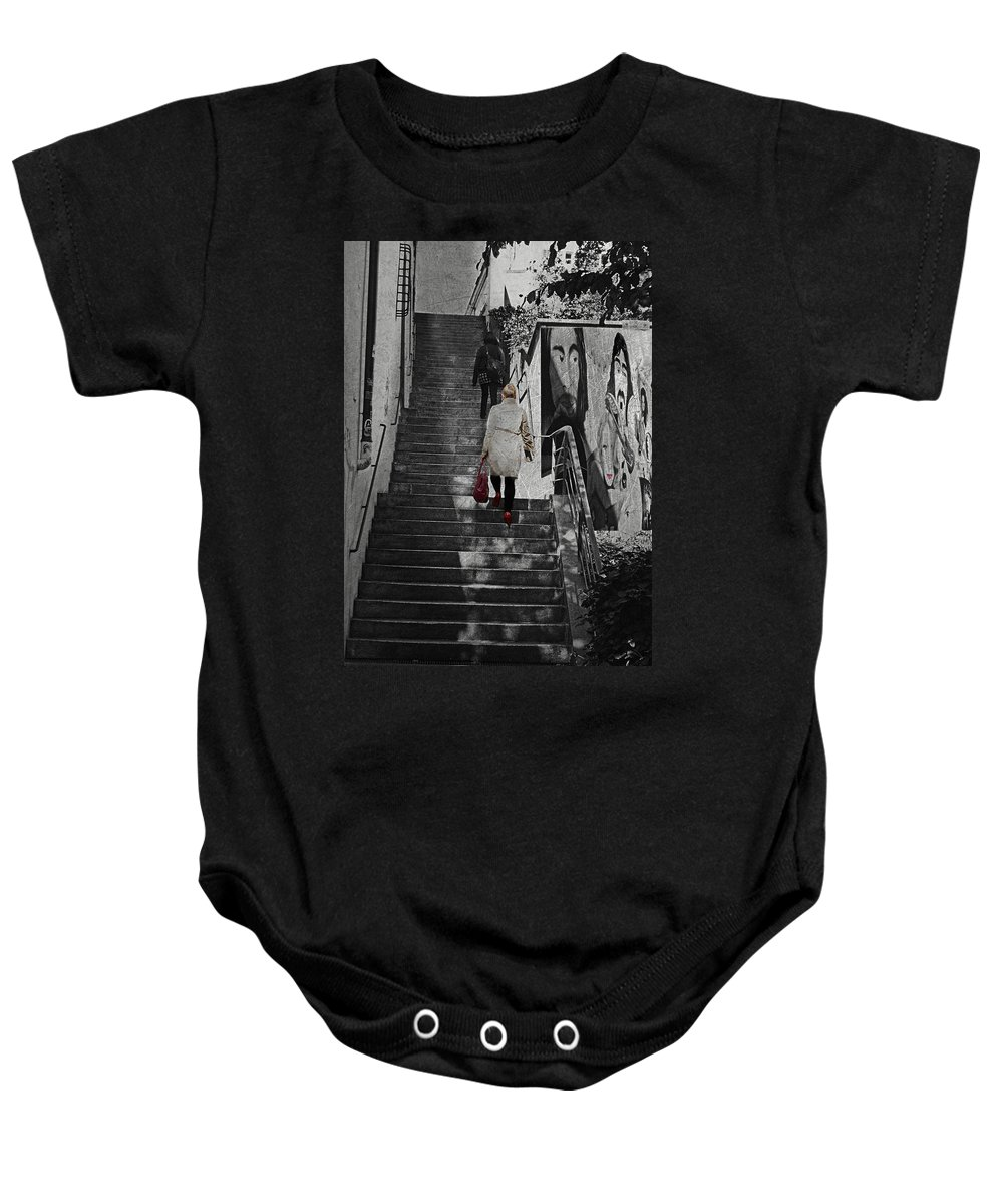 Woman Baby Onesie featuring the photograph Stairway To.. by Claudia Moeckel