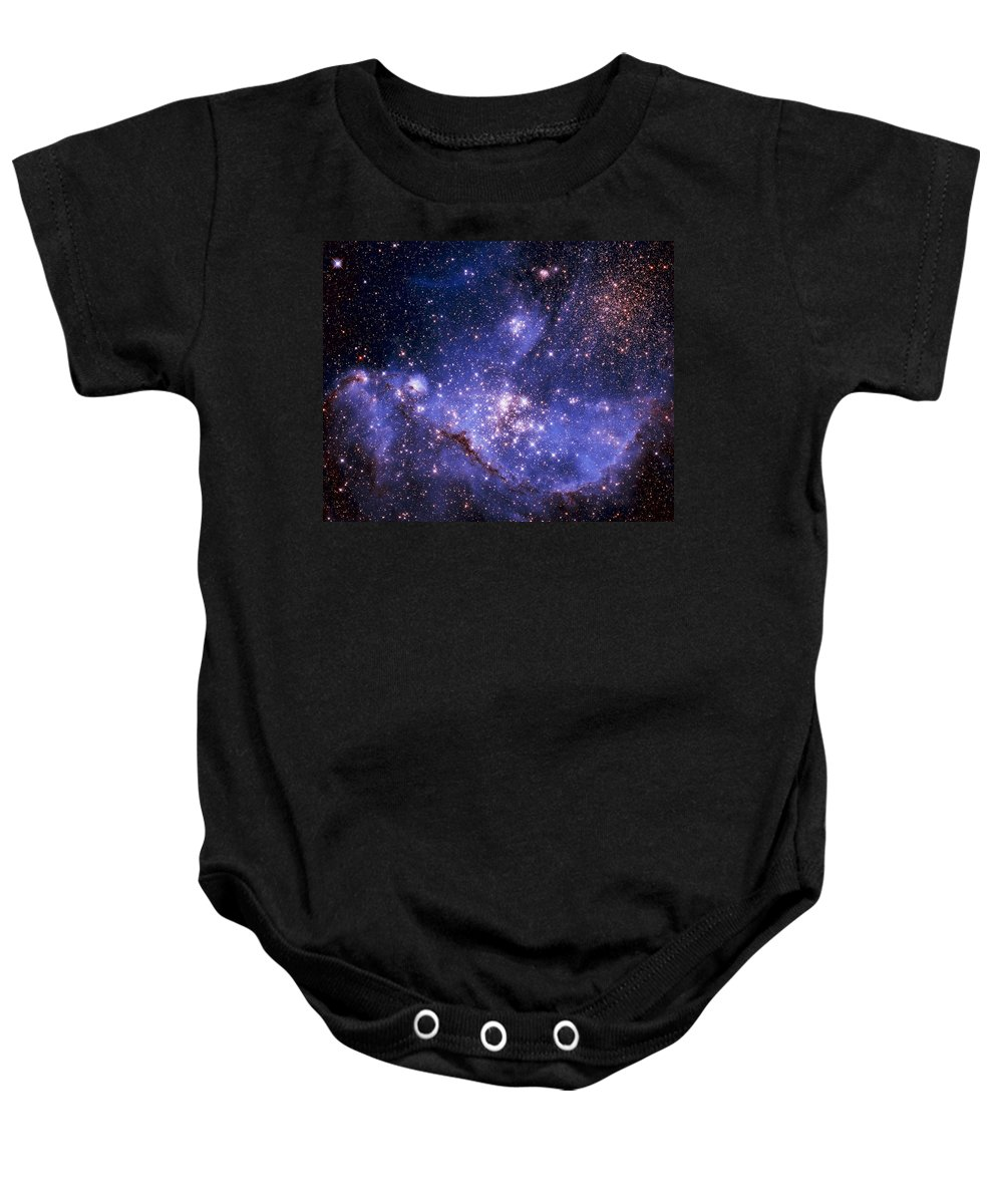Astronomy Baby Onesie featuring the photograph Stars And The Milky Way by Don Hammond
