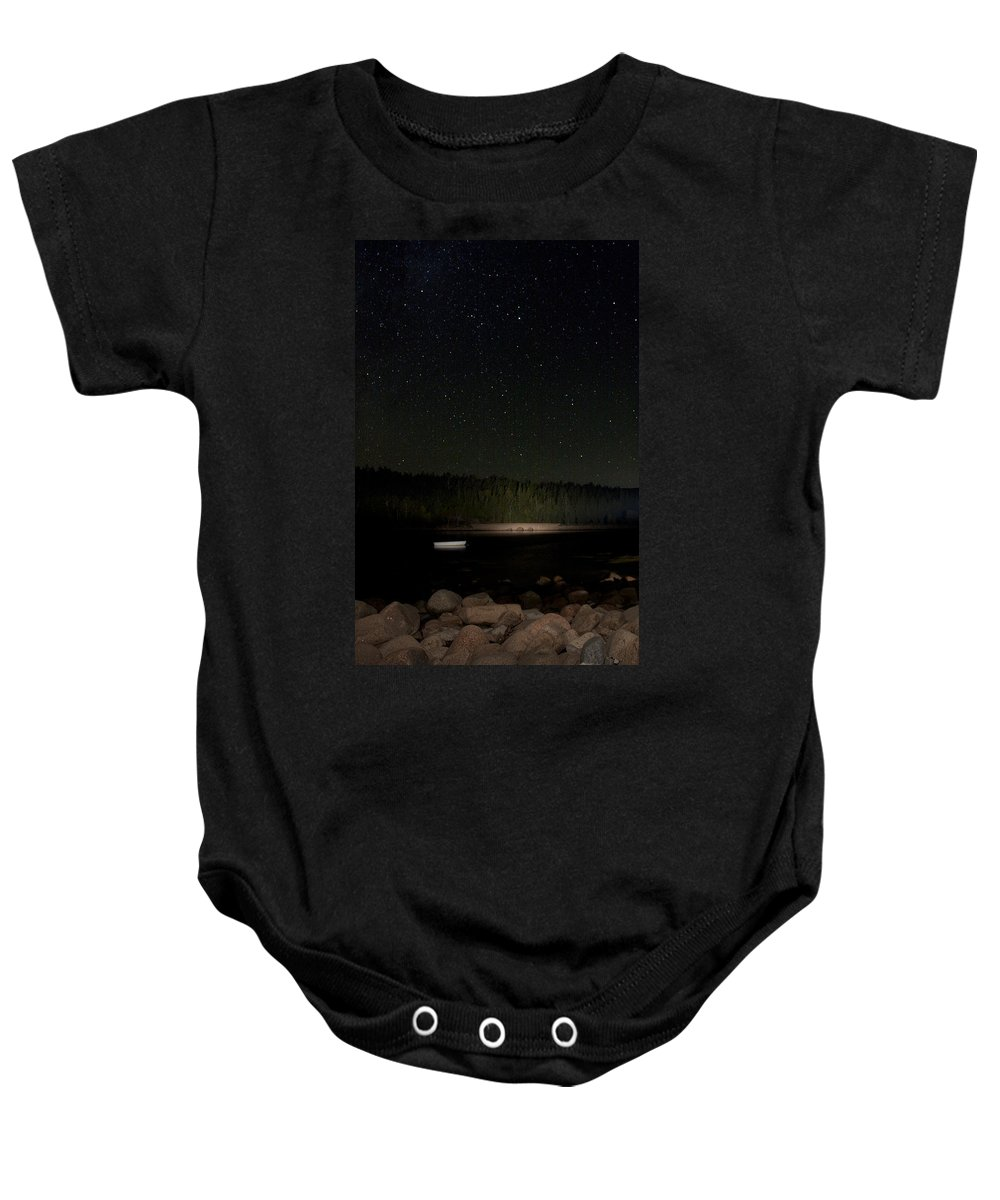 Stars Baby Onesie featuring the photograph Stars Over Otter Cove by Brent L Ander