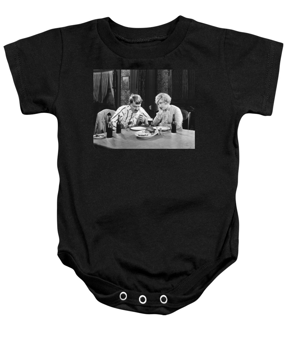 -eating & Drinking- Baby Onesie featuring the photograph Stella Dallas, 1925 by Granger