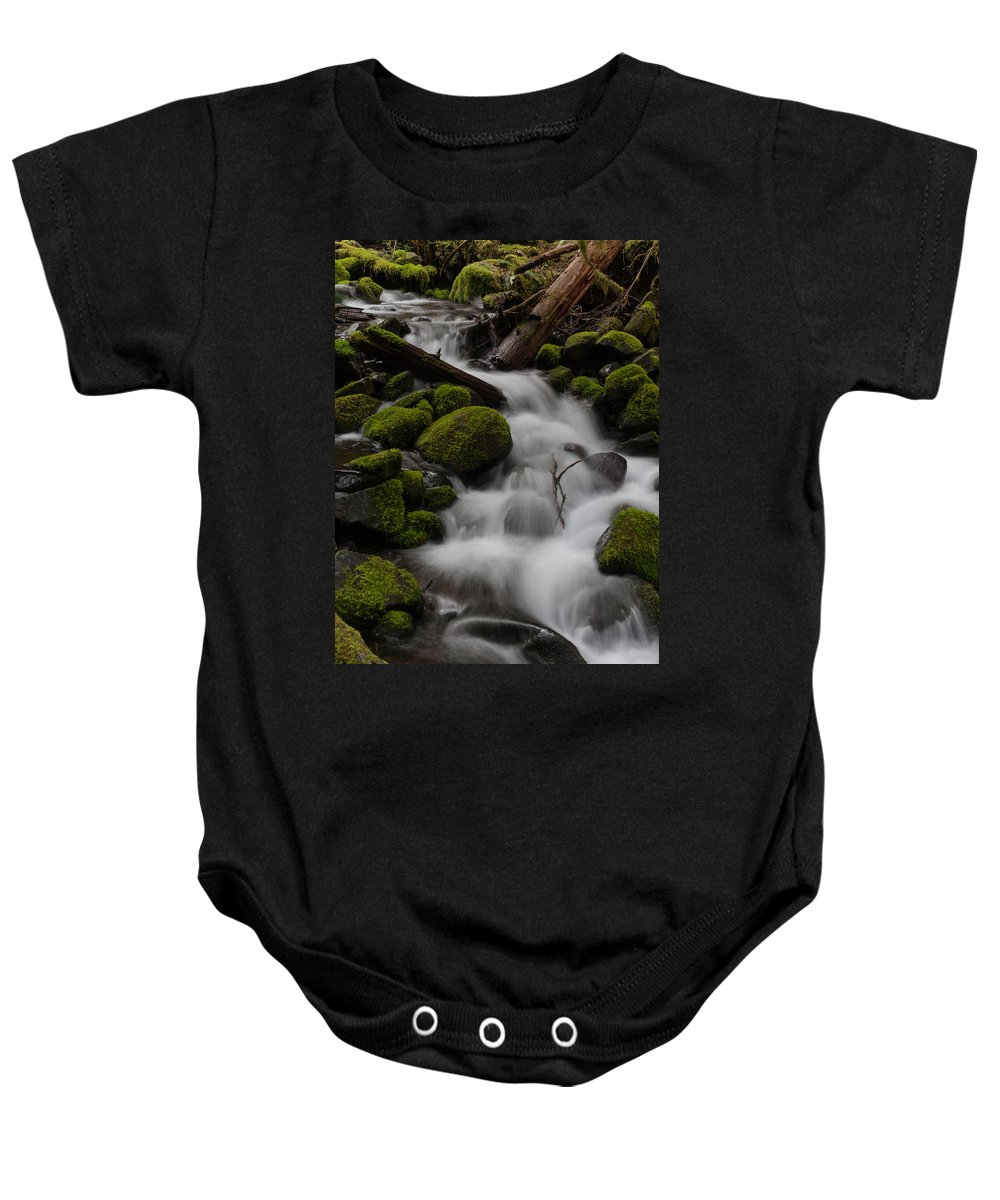 Olympic National Park Baby Onesie featuring the photograph Stepping Stones by Mike Reid