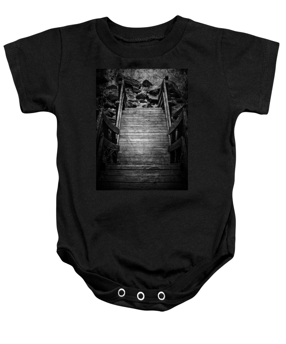 Jerry Cordeiro Baby Onesie featuring the photograph Steps To See by The Artist Project
