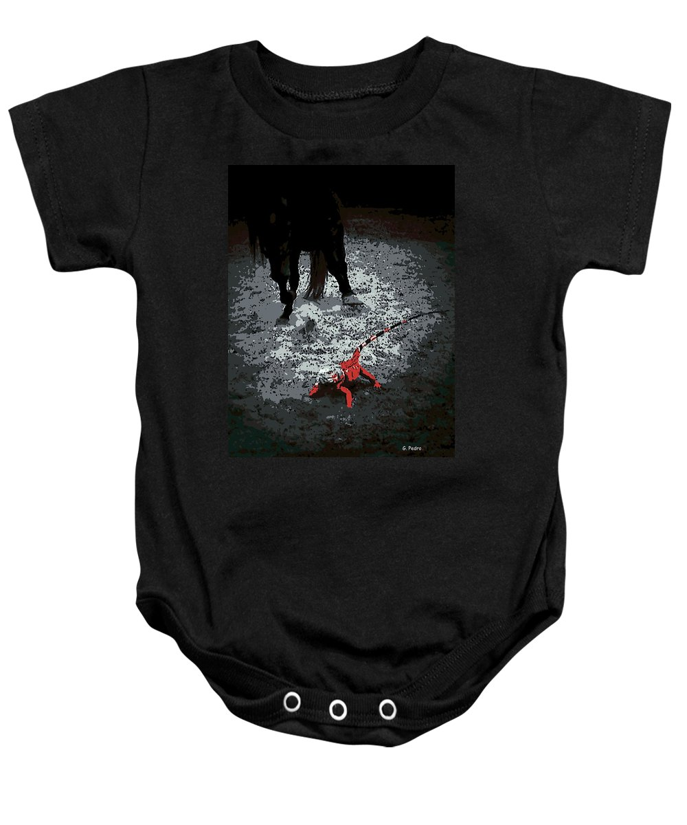 Stomping Baby Onesie featuring the photograph Stomping Mad by George Pedro