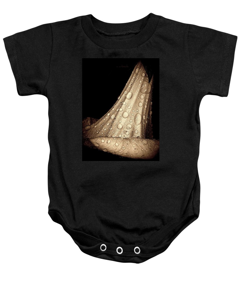 Earthy Baby Onesie featuring the photograph Study In Brown by Chris Berry