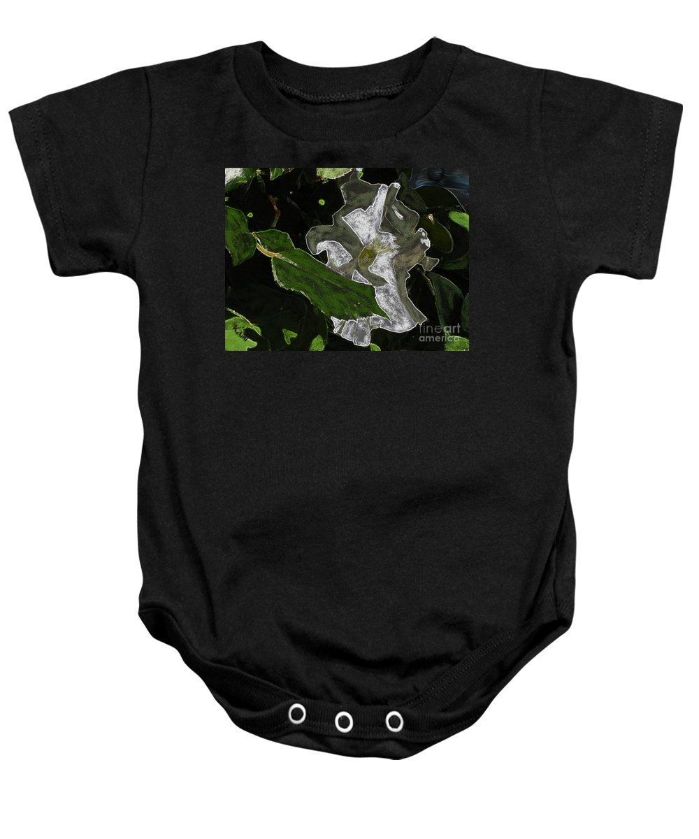 Flower Baby Onesie featuring the painting Summer Flower by Kami Catherman