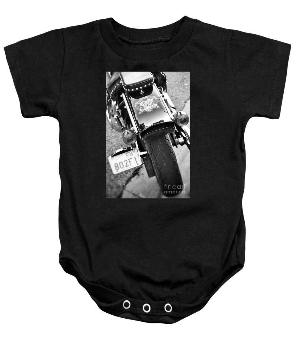 Motorcycle Baby Onesie featuring the photograph Summer Love by Traci Cottingham
