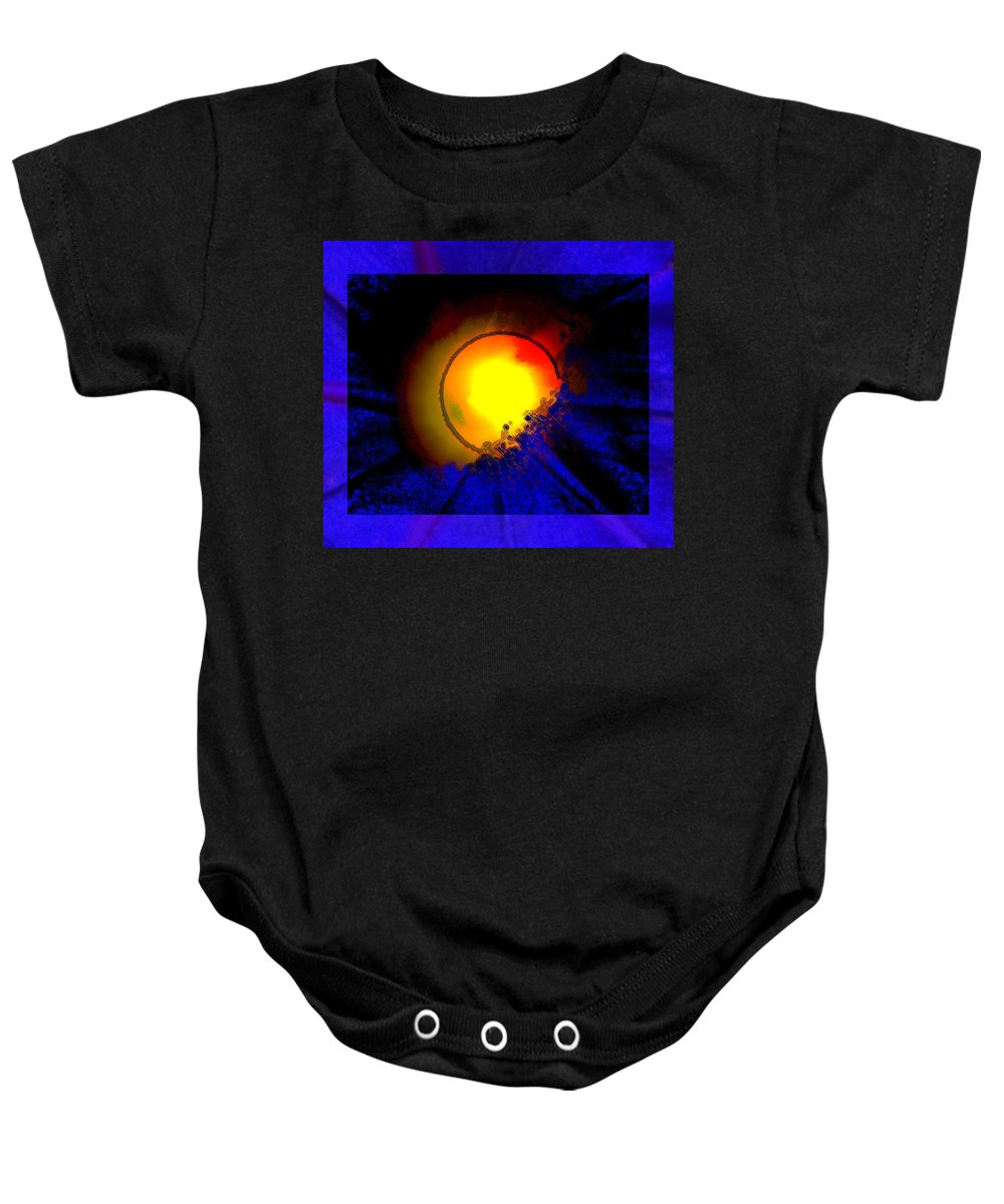Abstract Baby Onesie featuring the photograph Sun And Glory by Lenore Senior