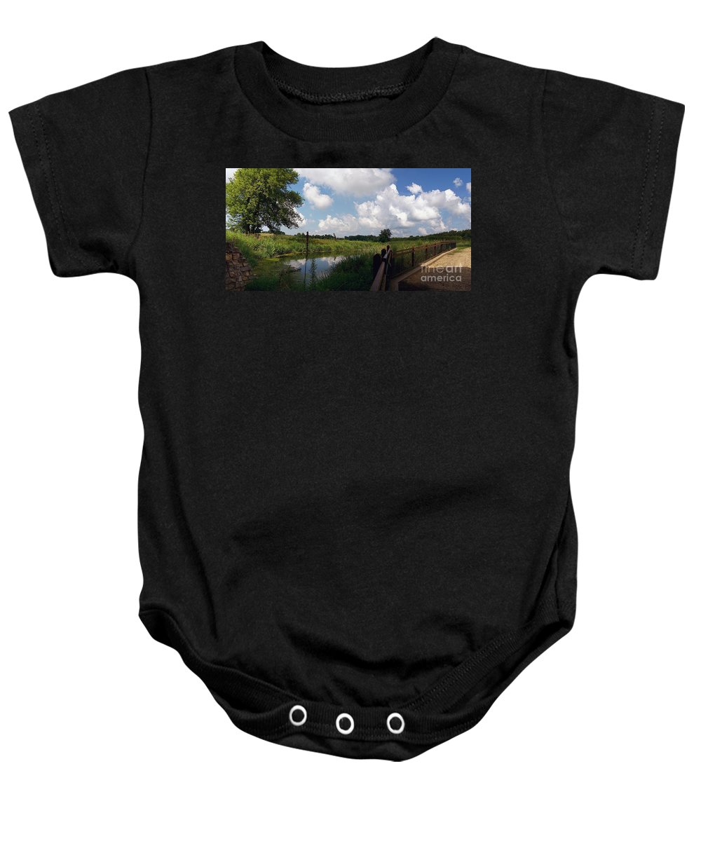 Color Photography Baby Onesie featuring the photograph Sunday Stroll by Sue Stefanowicz