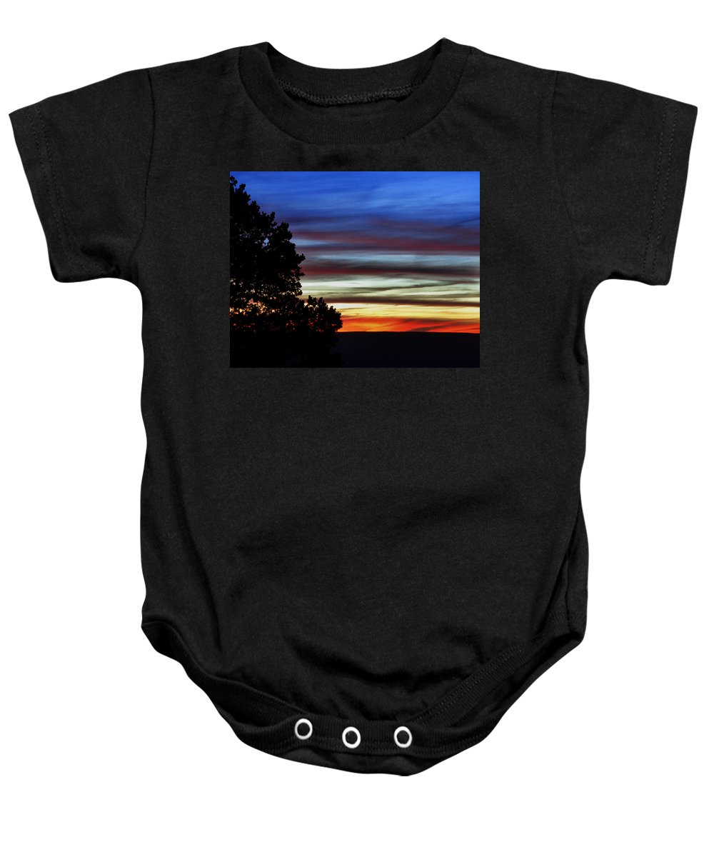 Sunset Baby Onesie featuring the photograph Sunset At Desert View Along The Grand Canyon by Greg Matchick