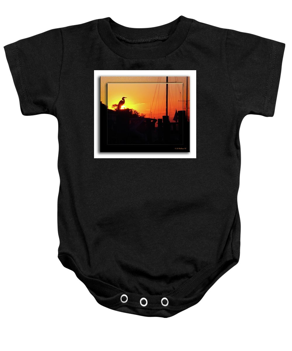 2d Baby Onesie featuring the photograph Sunset At The Granary by Brian Wallace