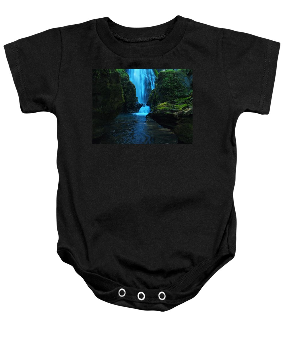 Water Baby Onesie featuring the photograph Susan Creek Falls by Teri Schuster