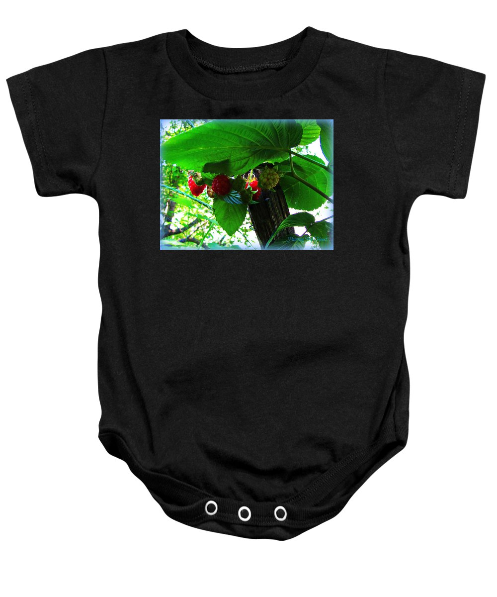 Raspberries Baby Onesie featuring the photograph Sweet N Juicy by Deahn   Benware