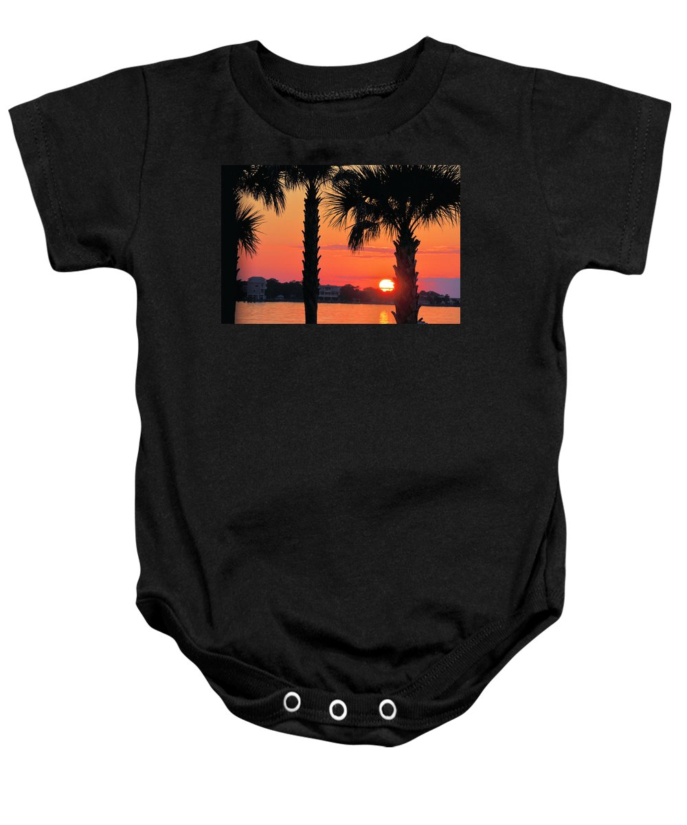 Seascapes Baby Onesie featuring the photograph Tangerine Dream by Jan Amiss Photography