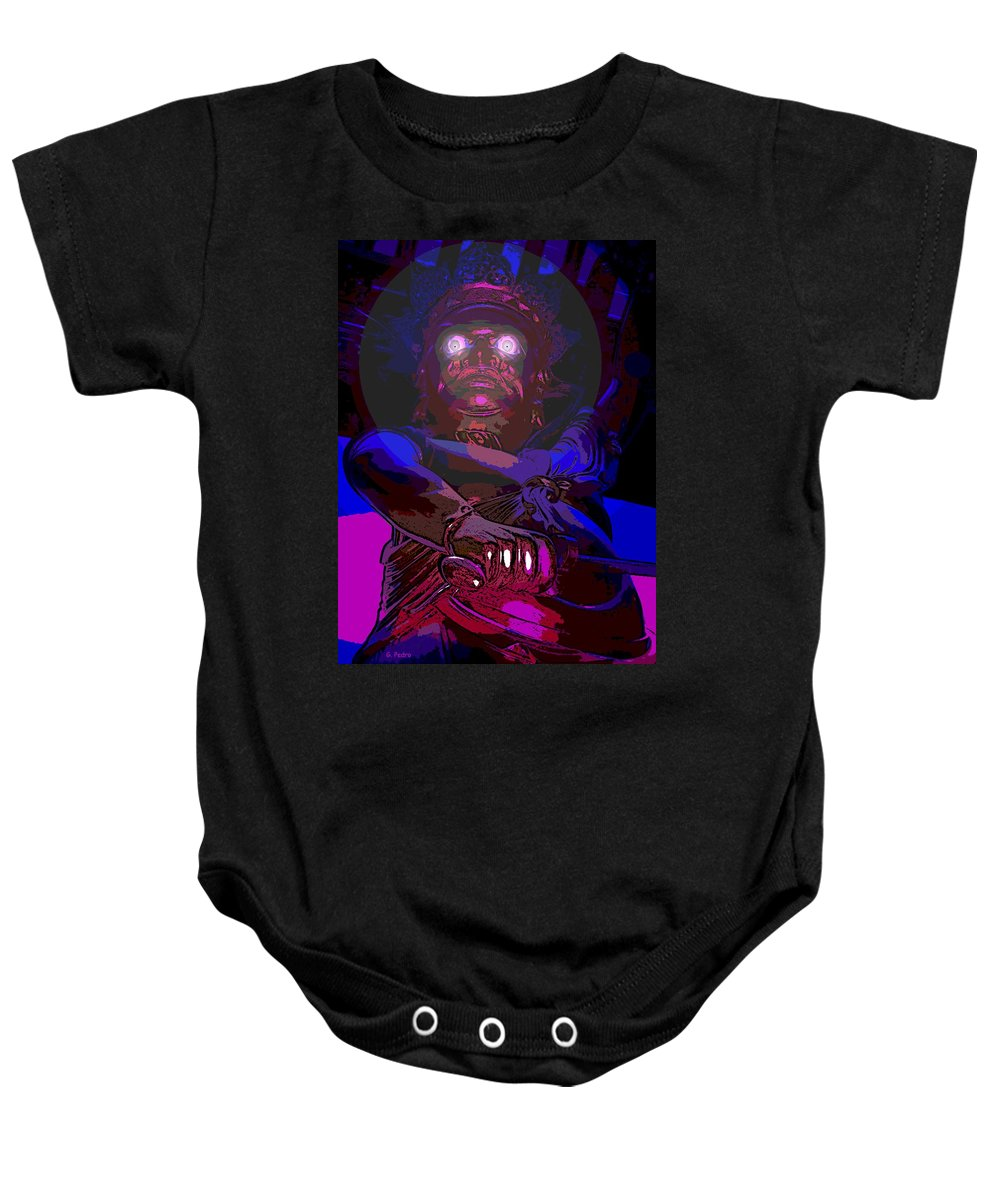 Asian Baby Onesie featuring the photograph Temple Guardian by George Pedro