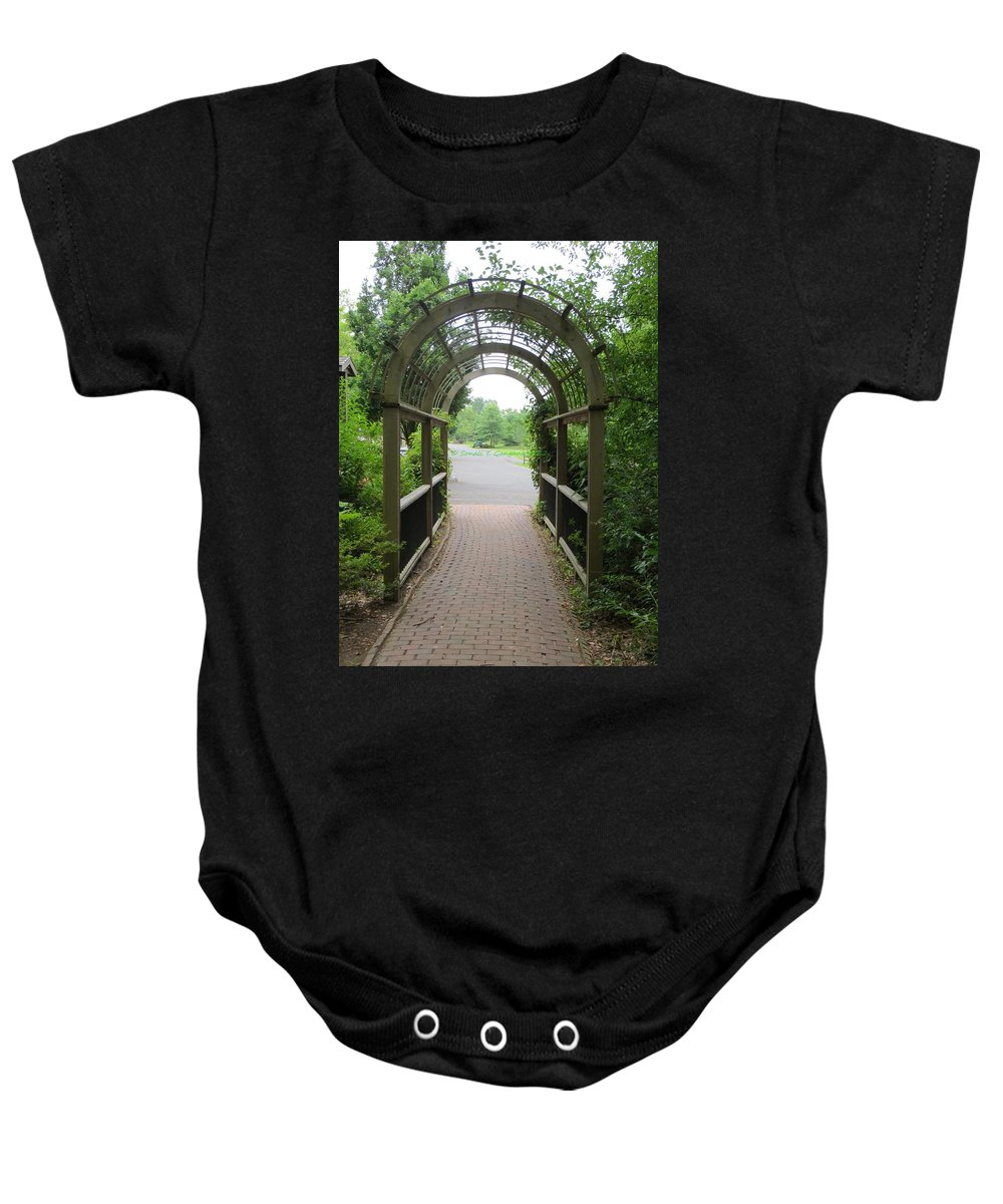 Baby Onesie featuring the photograph The Archway by Sonali Gangane