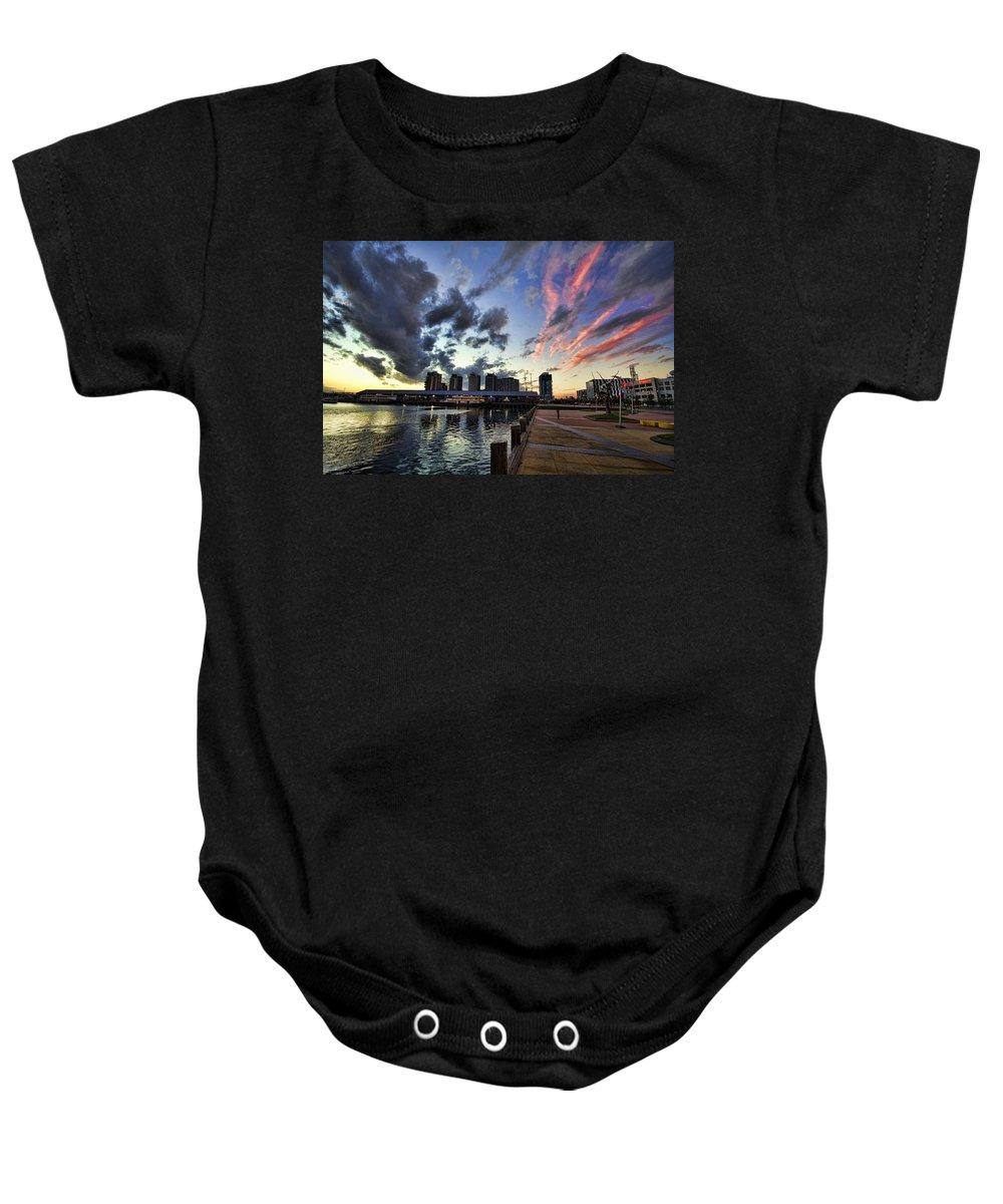 The Dockyard Baby Onesie featuring the photograph The Dockyard by Douglas Barnard