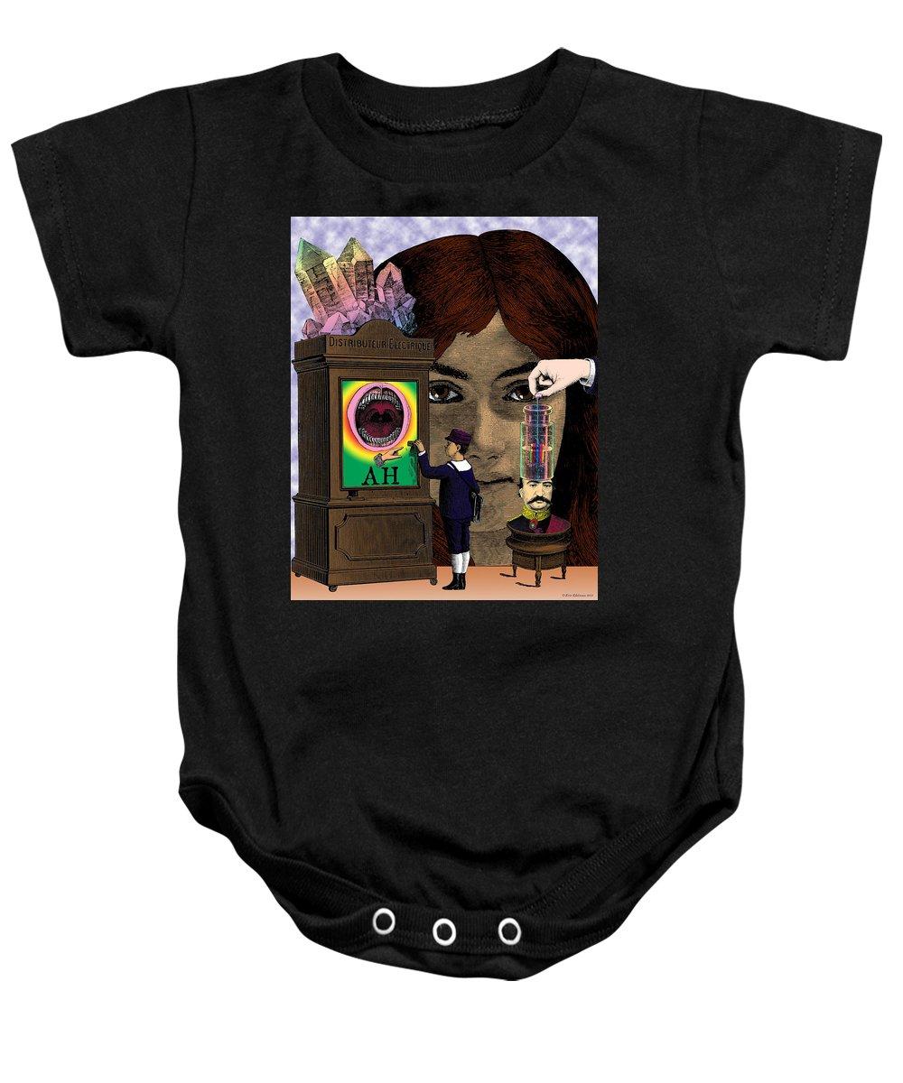 Digital Collage Baby Onesie featuring the digital art The Exchange by Eric Edelman