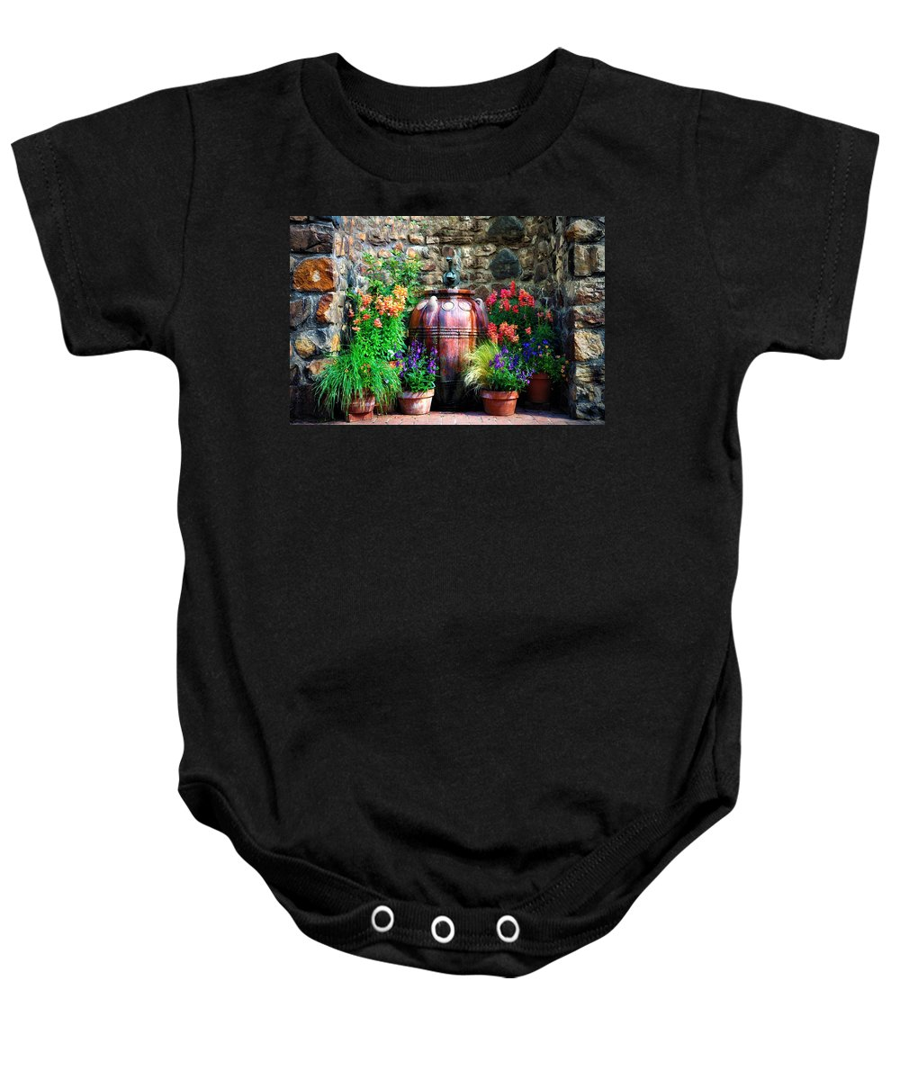 The Garden Cistern Baby Onesie featuring the photograph The Garden Cistern by Bill Cannon