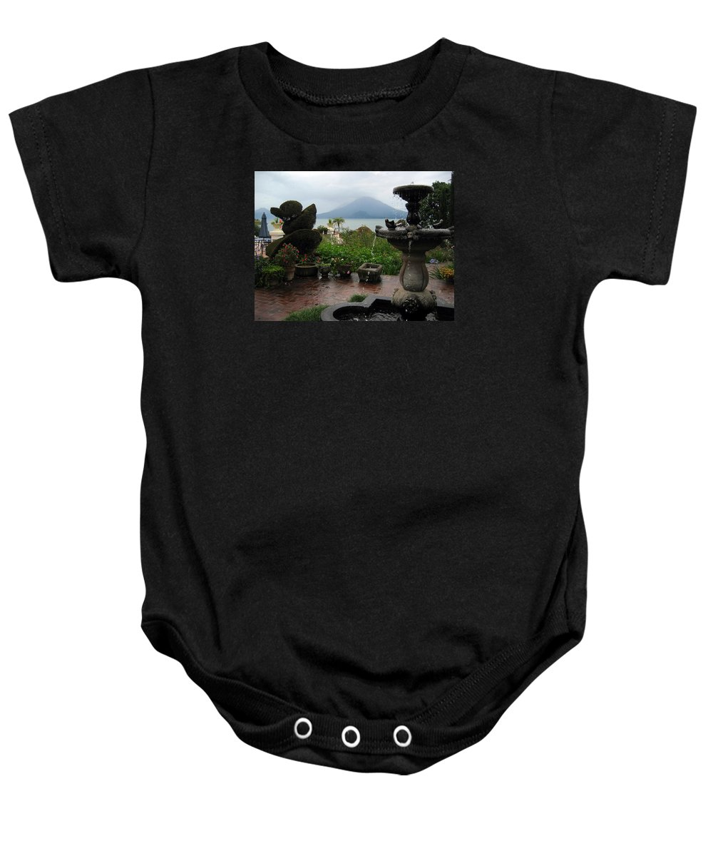 Garden Baby Onesie featuring the photograph The Garden Next To The Lake - 2 by RicardMN Photography