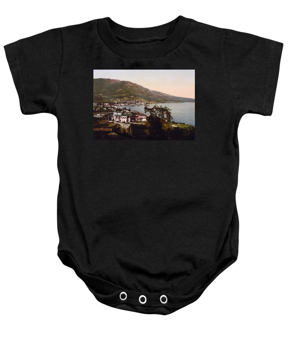 Russia Baby Onesie featuring the photograph The Gulf Jalta -ie Yalta - The Crimea - Russia -ie- Ukraine by International Images