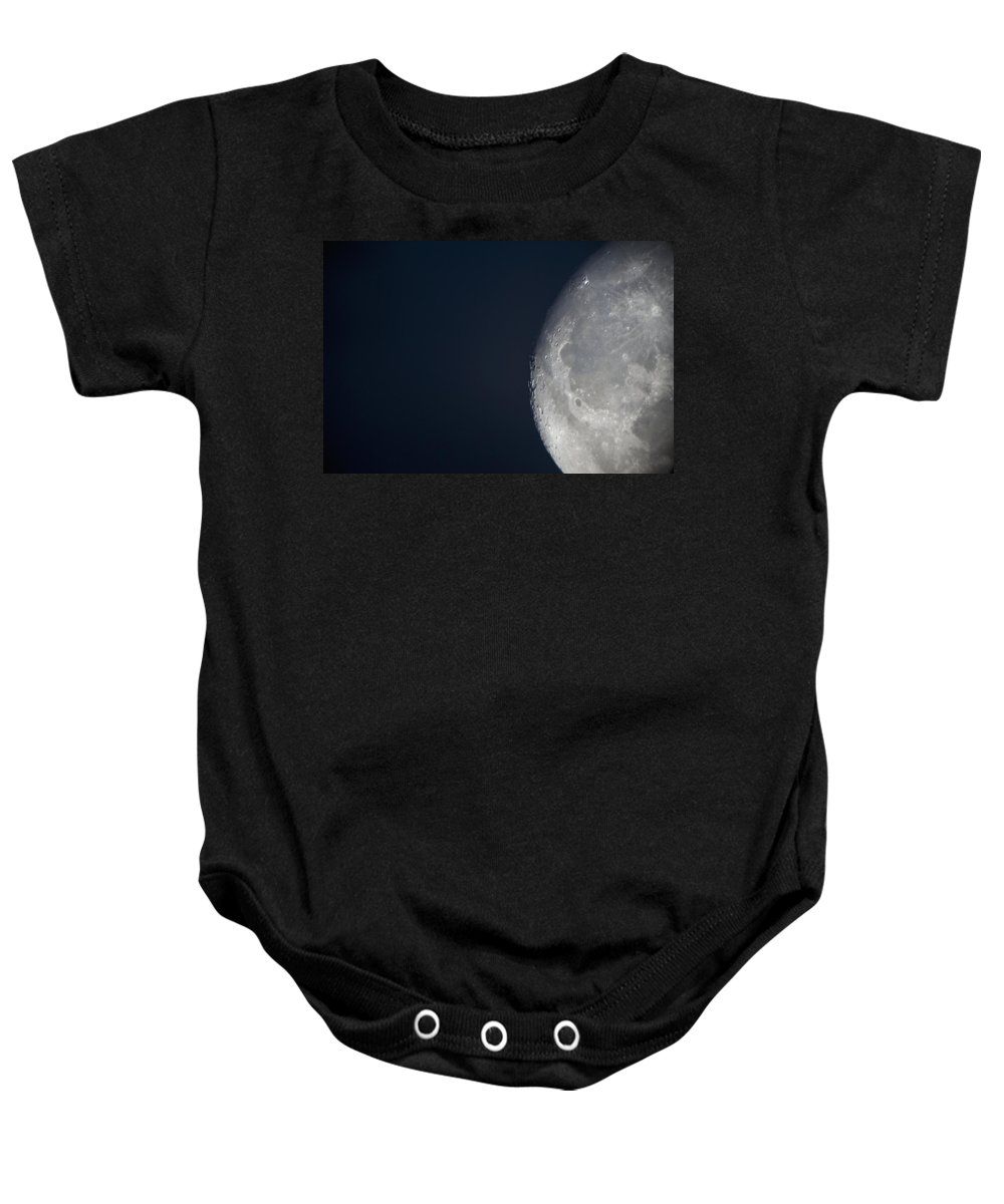 Canada Baby Onesie featuring the photograph The Moon Lake Of The Woods Ontario by Keith Levit