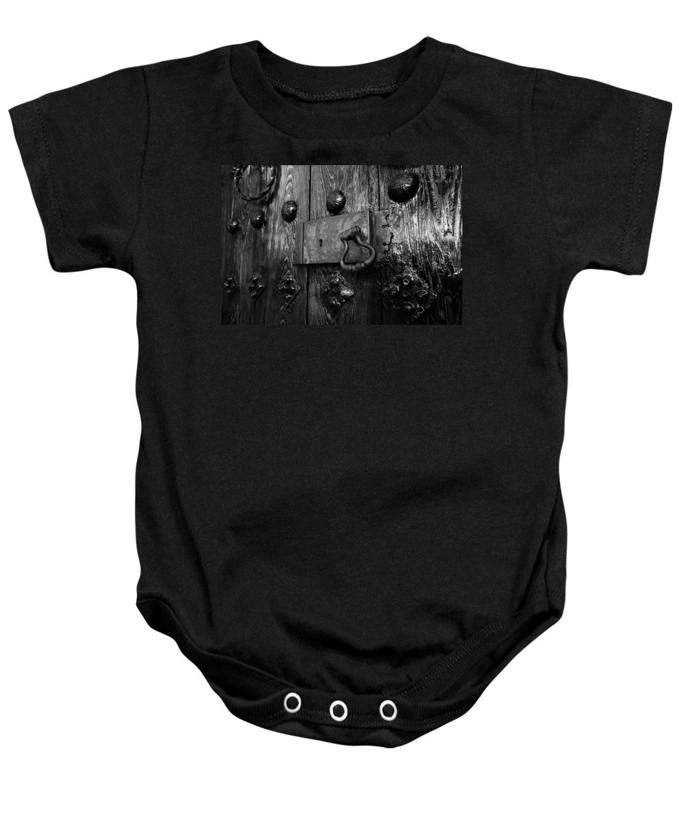 Fine Art Photography Baby Onesie featuring the photograph The Old Church Door by David Lee Thompson