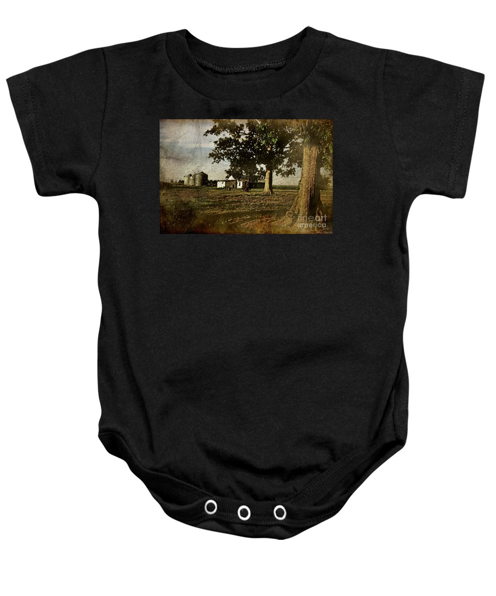 Landscape Baby Onesie featuring the photograph The Old Home Place by Debbie Portwood
