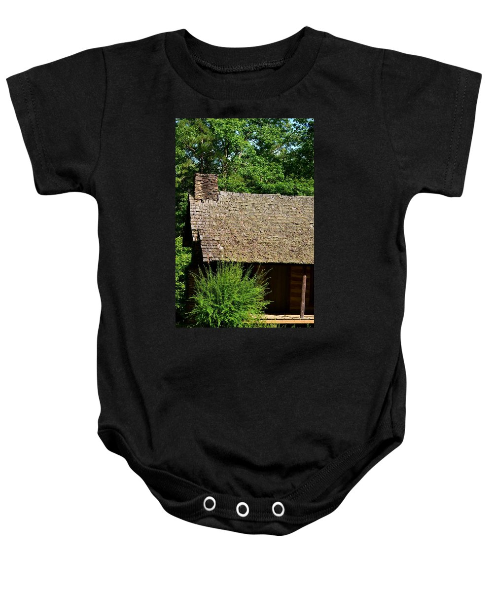 House Baby Onesie featuring the photograph The Old House by Maria Urso