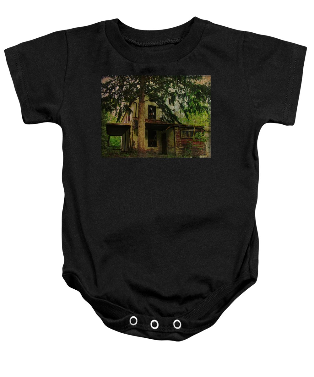 House Baby Onesie featuring the photograph The Old House Where Nobody Lives by Mother Nature
