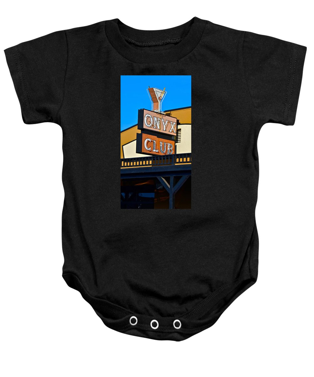 The Onyx Club Baby Onesie featuring the photograph The Onyx Club by Bill Owen