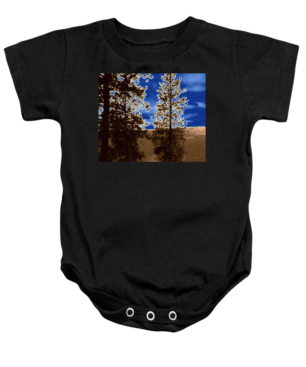 Parched Land Baby Onesie featuring the digital art The Parched Land by Will Borden