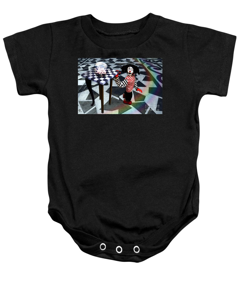 Puppet Baby Onesie featuring the digital art The Puppet Freedom by Rosa Cobos
