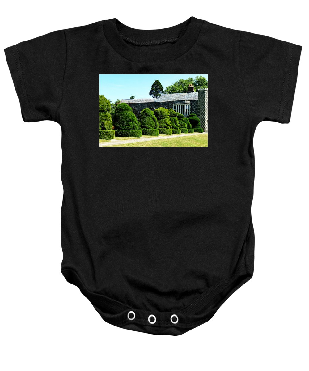 Queen Baby Onesie featuring the photograph The Queens Beasts by Steve Taylor