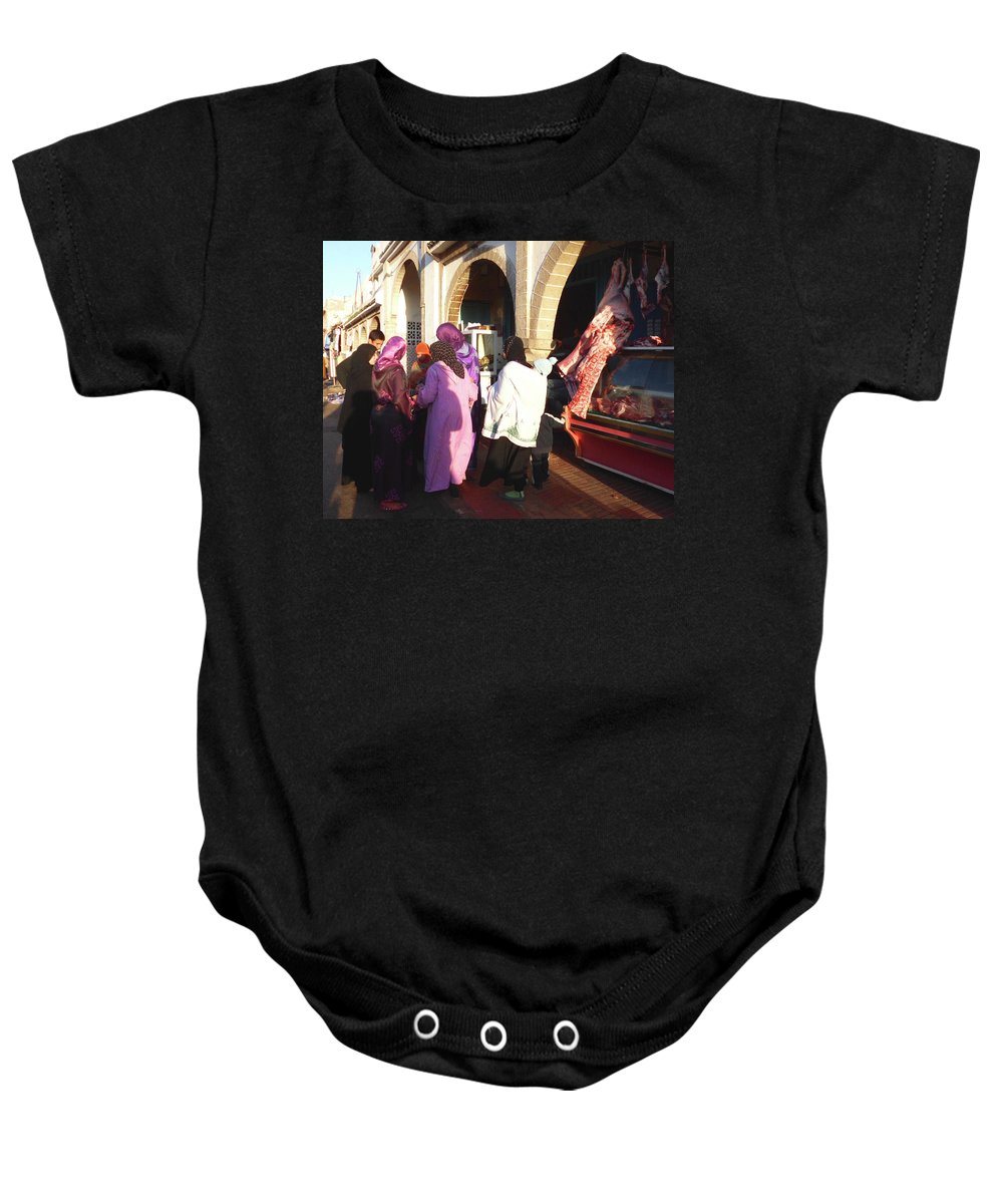 Travel Baby Onesie featuring the photograph The Temptation Of The Flesh by Miki De Goodaboom