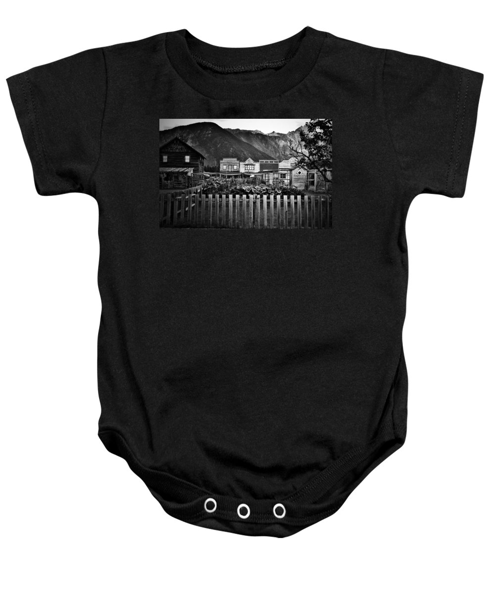 Window Baby Onesie featuring the photograph The Town by The Artist Project
