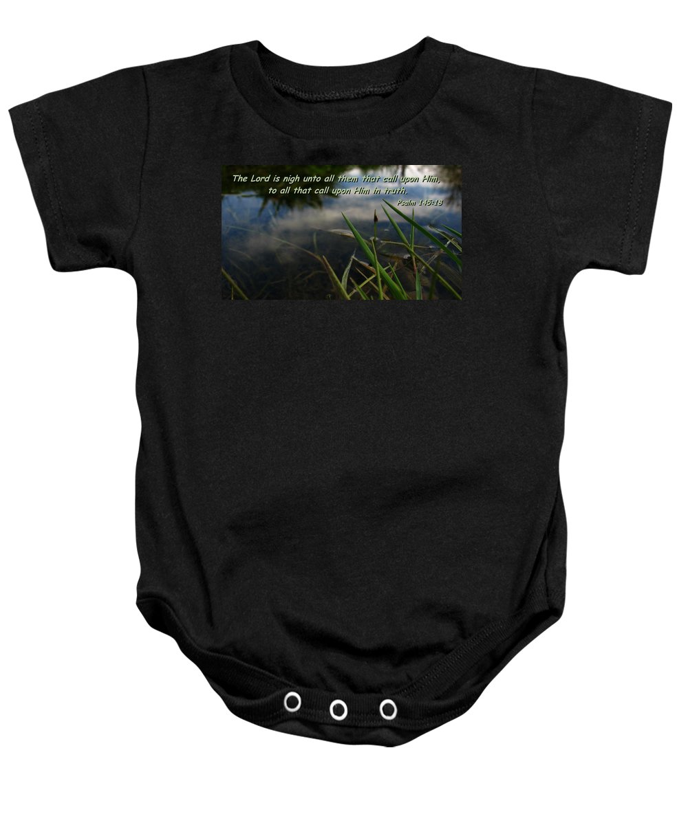 God Photography Baby Onesie featuring the photograph The Truth Factor by Jyvonne Inman