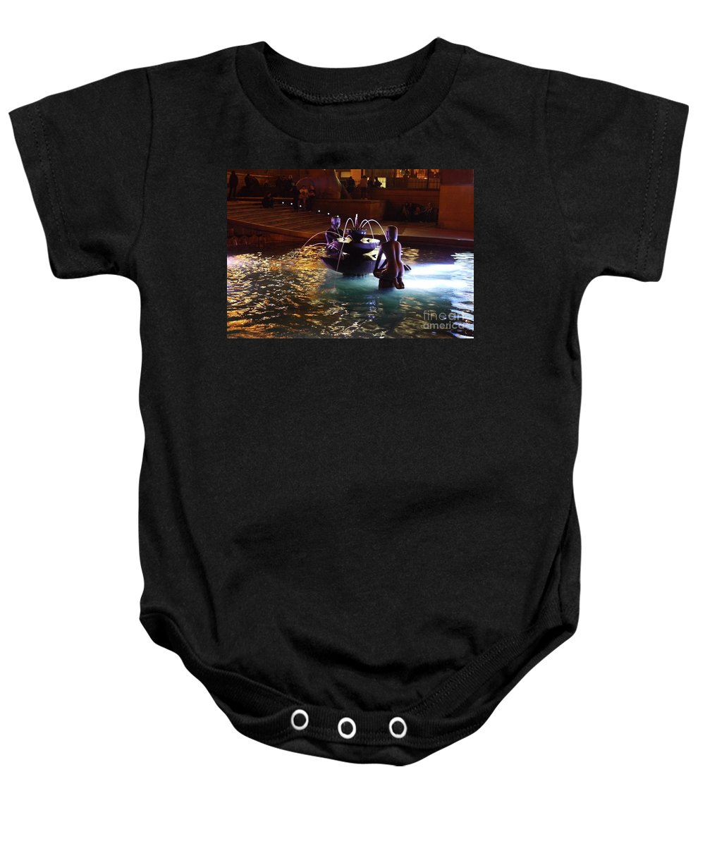 Youth Fountain Baby Onesie featuring the photograph The Youth Fountain by John Chatterley