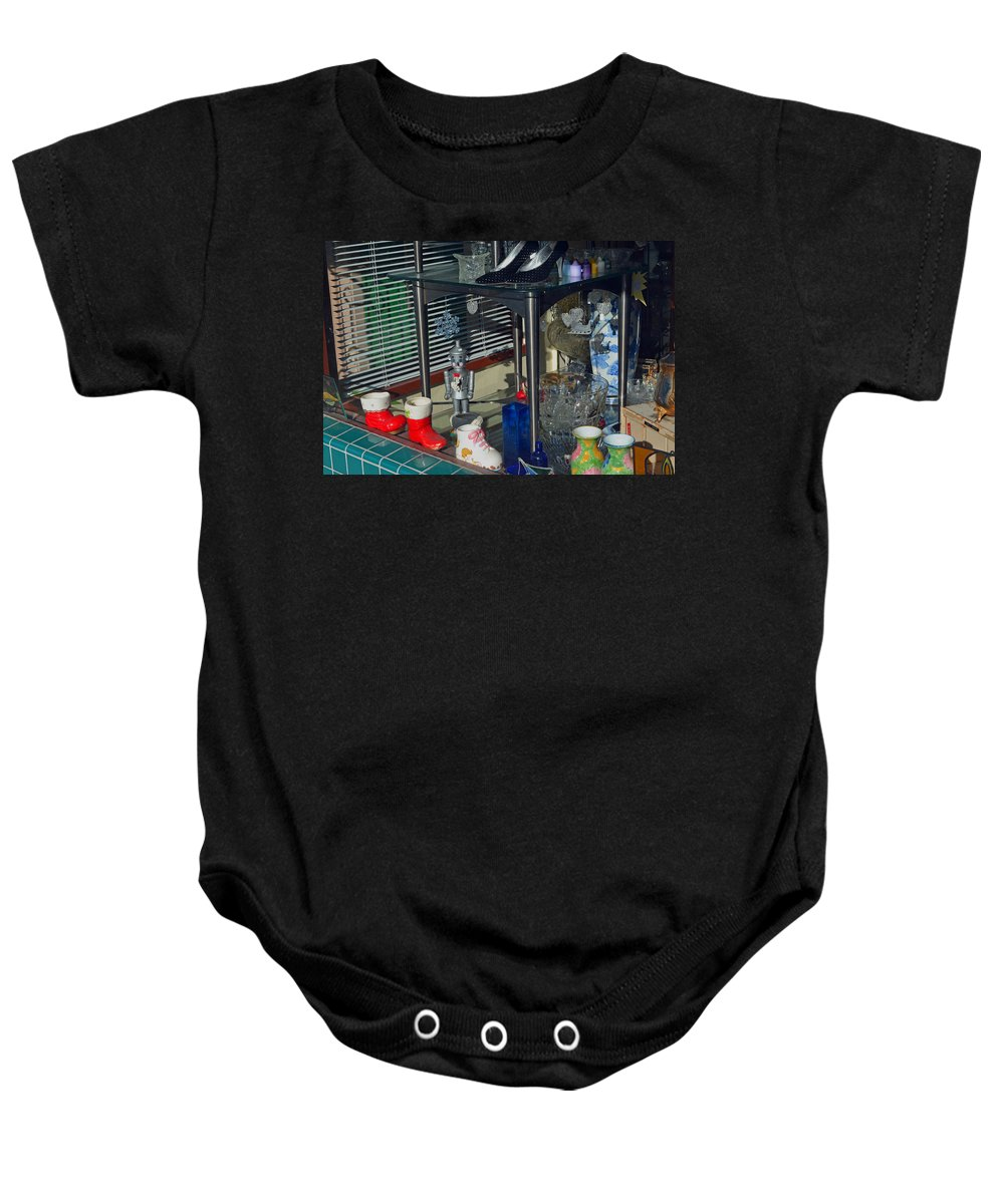 Window Shopping Baby Onesie featuring the photograph Thrift Store 2 by Bill Owen