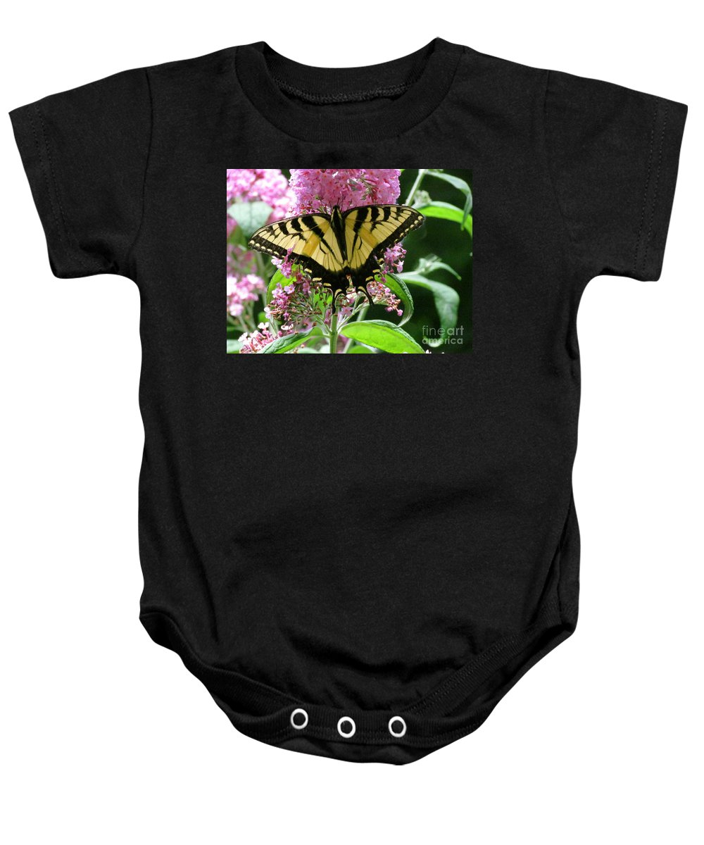 Butterfly Baby Onesie featuring the photograph Tiger Swallowtail Butterfly by Randi Shenkman