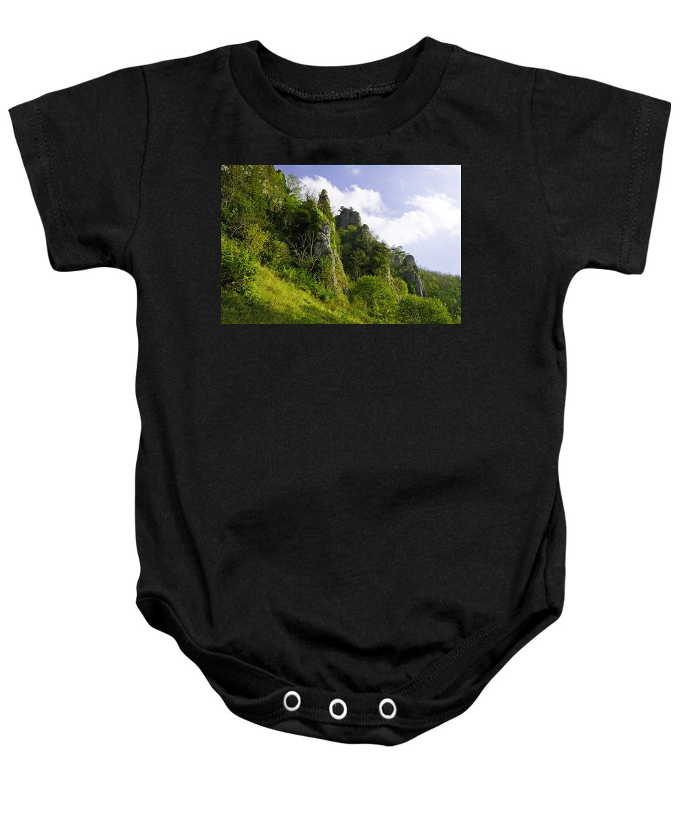 Dovedale Baby Onesie featuring the photograph Tissington Spires by Rod Johnson